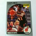 1989/1990 NBA Hoops Glen Rice Rookie Card #168 Miami Heat